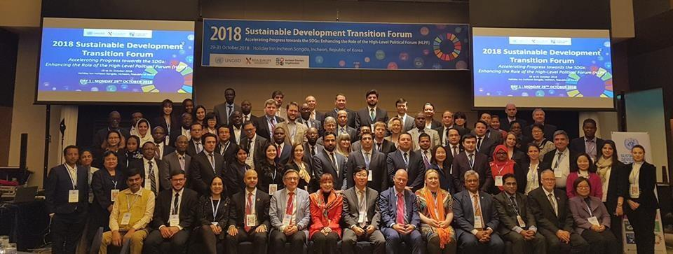 Group of participants in the Sustainable Development Transition Forum (SDTF) (October 2018)